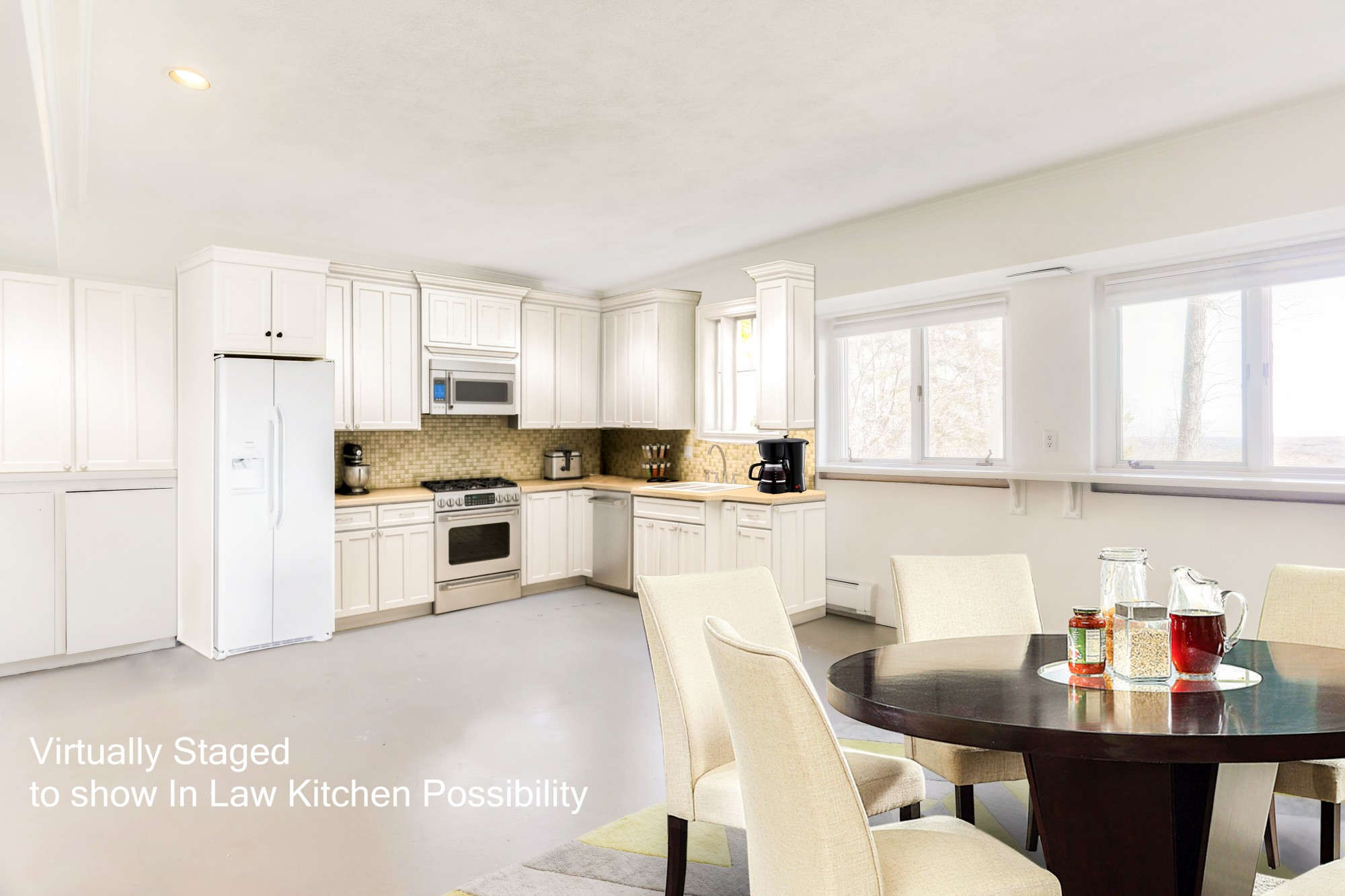 Virtually Staged to show In Law Kitchen Potential